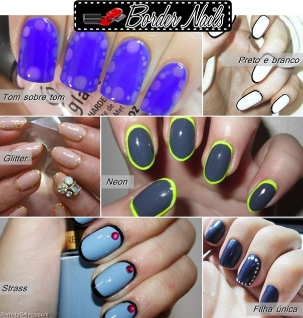 border nails- unhas com bordas