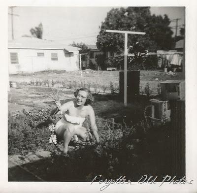 Edna in her garden