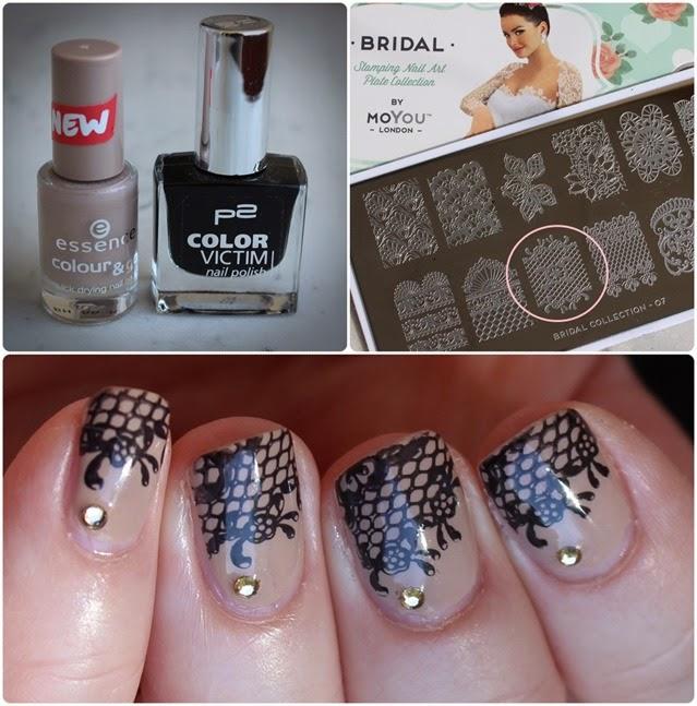 Nageldesign Nail Art Wedding Lace 10