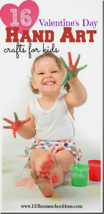 Valentines Day Crafts for Kids - 16 adorable hand art projects for kid to make! LOVE these!