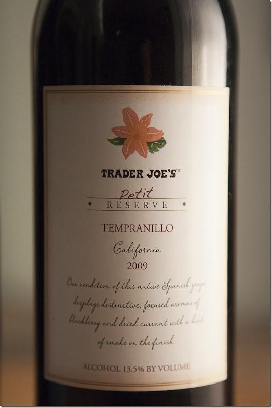 2009 Trader Joe's California Petit Reserve Tempranillo