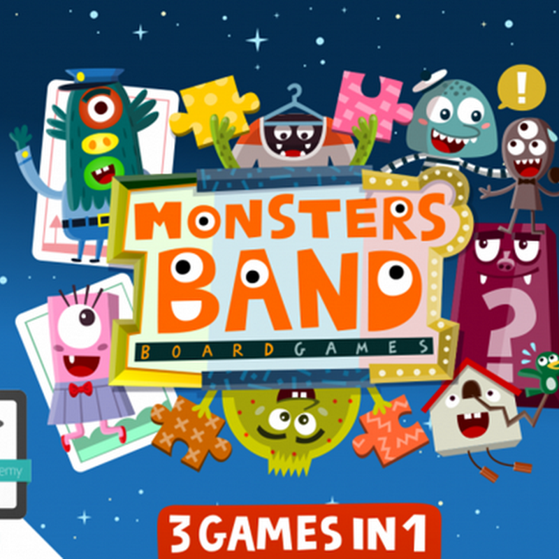 Monsters Band: free educational games for kids, toddlers & children.