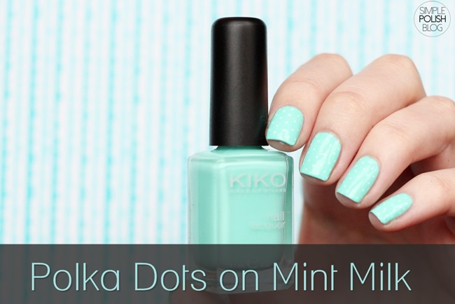 Polka-Dot-Nails-Mint-Milk-Kiko-1