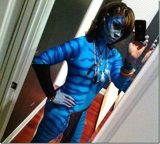 Avatar maquillaje y disfraz casero de Avatar para halloween