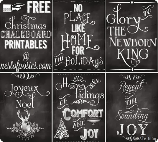 FREE Christmas Chalkboard Printables at Nest of Posies[1]
