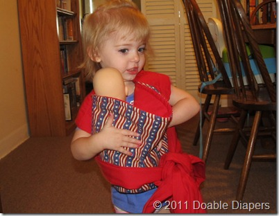 Elaine Wearing the Kozy Carrier