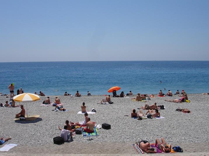 The Beach, Nice, France.