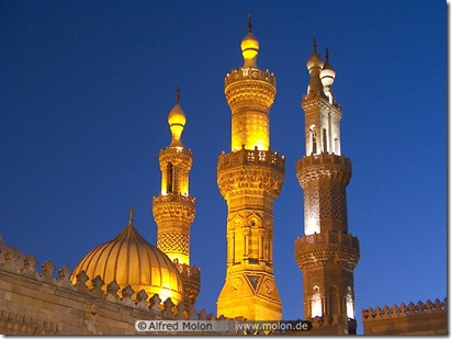 19 Al Azhar mosque at night