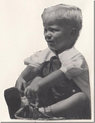 Jan Albert Iverson in 1938 - 2 Years Old