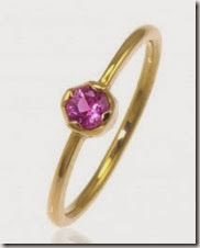 Pink sapphire and 18ct ethical gold ring