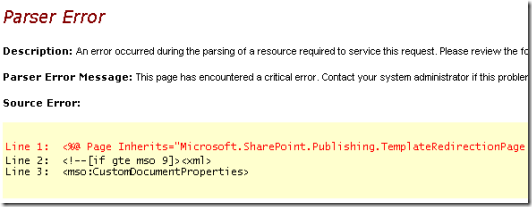 Another symptom and misleading error message.