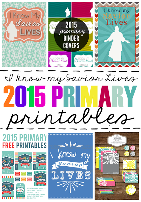 I Know My Savior Lives 2015 Primary Printables #lds #sharegoodness
