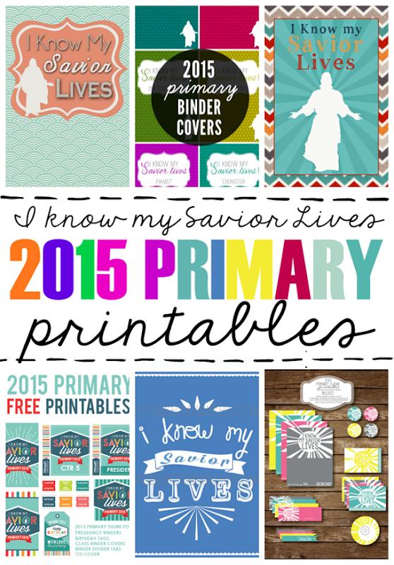 I Know My Savior Lives 2015 Primary Printables #lds #sharegoodness