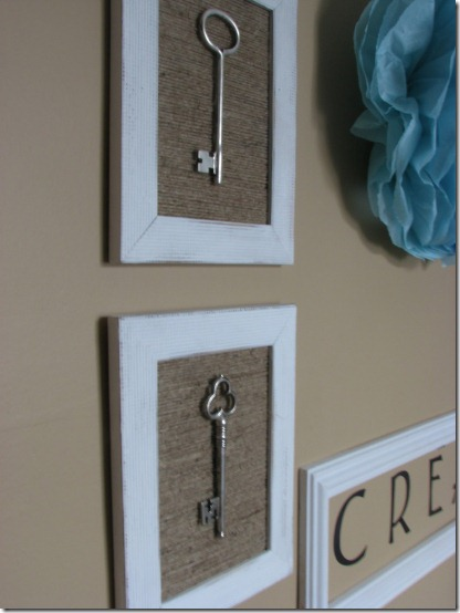 diy projects with jute--create a textured background for framed items with jute