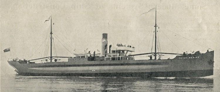 Vapor THYRA-MENIER. Foto de la revista The Marine Engineer and Naval Architect. Nº 424. January 1913.jpg