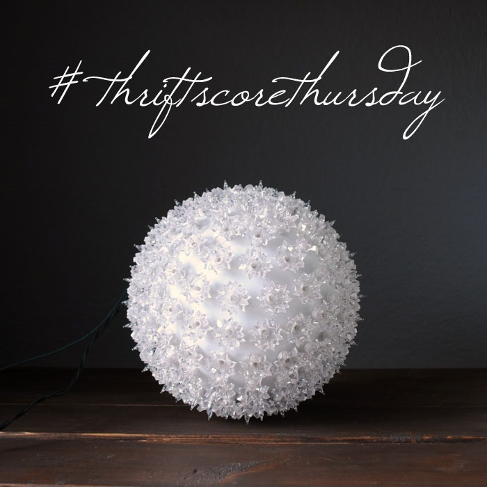 thriftscorethursday pottery barn christmas light ball
