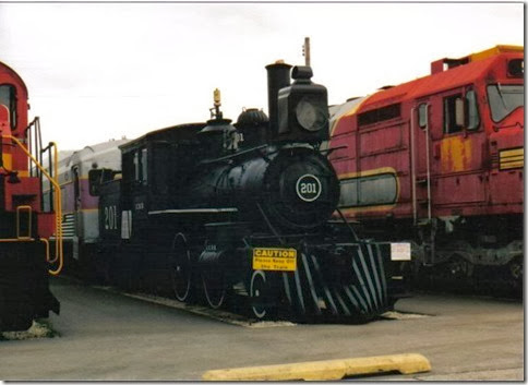 Illinois Central 2-4-4T #201 at the Illinois Railway Museum on May 23, 2004