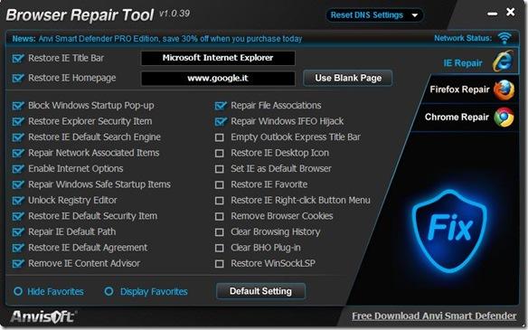 Browser Repair Tool
