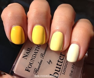 Yellow Ombre with butter LONDON and Illamasqua