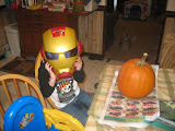 Ironman is ready to carve.