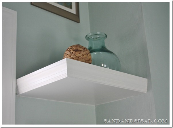 Floating shelf underside