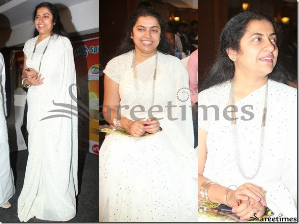 Suhasini_White_Embroidery_Saree