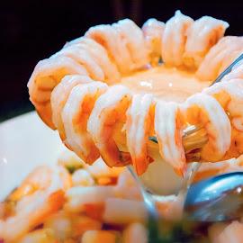 Cold Shrimp Salad by Edison Madrideo - Food & Drink Plated Food ( salad food shrimp tasty yummy )