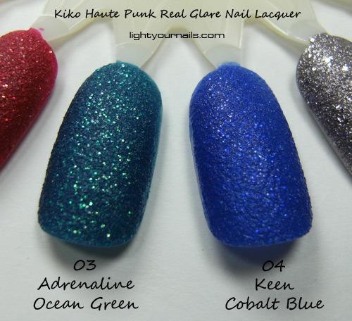 Kiko Haute Punk 03 Adrenaline Ocean Green 04 Keen Cobalt Blue