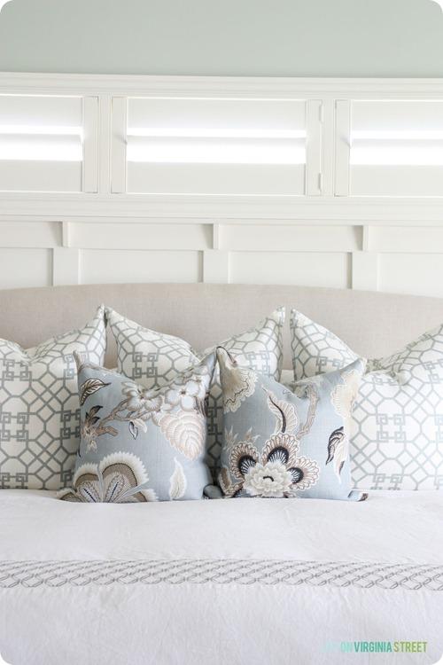 Mixing fabrics for pillows