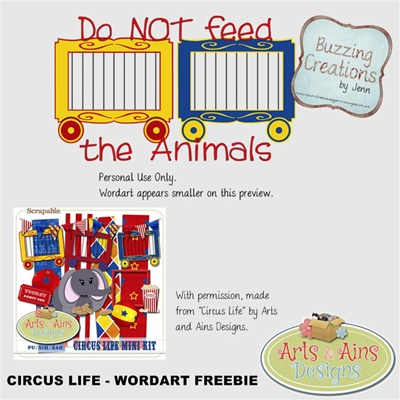 AAD - Circus Life Wordart Freebie Preview