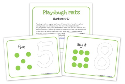 Numbers Playdough Mats