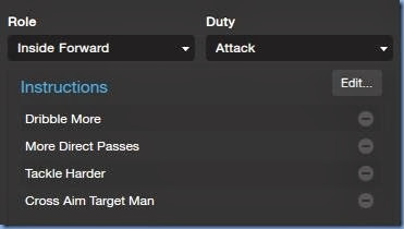 Inside Forward in FM 2014 tactics