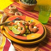Grilled shrimp Mango Salsa