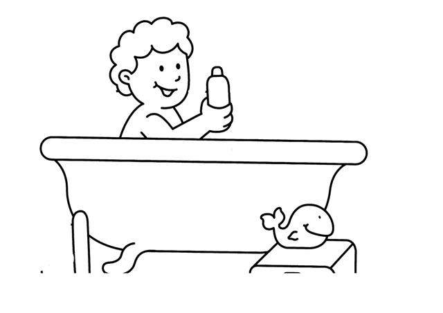 Dibujos de ba eras para colorear - Pintar una banera ...