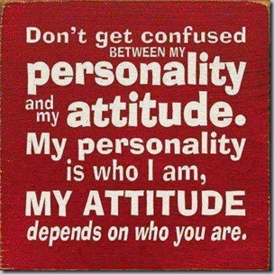 confused between attitude and personality
