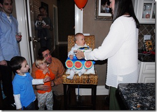 getting his cake