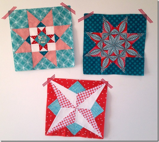 bronwyn's AusMod Bee blocks