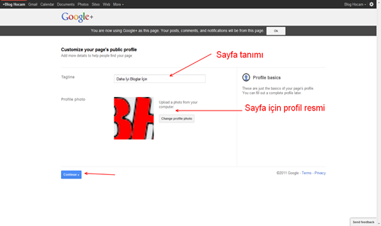 Google Plus Sayfa Oluşturma