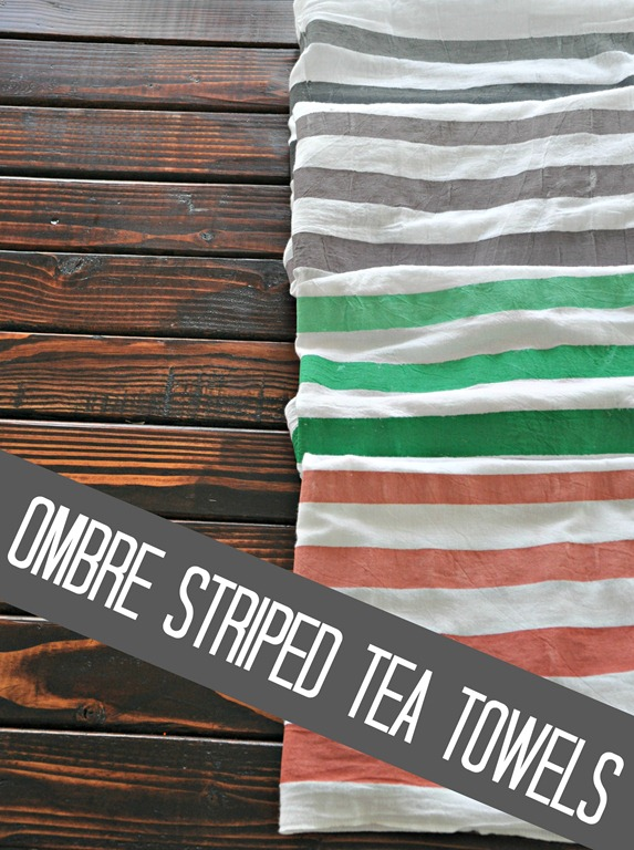 quick and easy crafts ombre striped tea towel