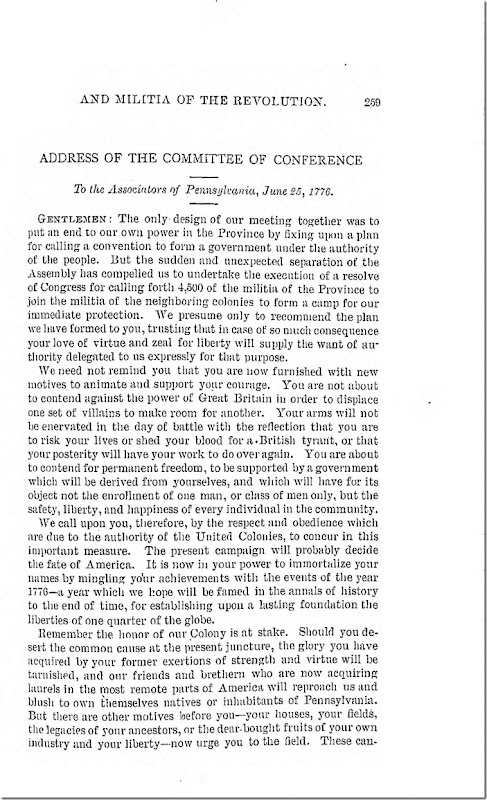 Pennsylvania Archives Series 2 Volume 13 Documents Relating to the Associations and Militia in General Page 259