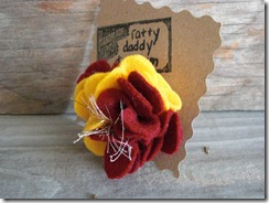 fsu felt flower pin