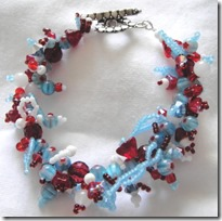 Red white baby blue bracelet