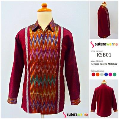 Kemeja Sutera Malabar: KSB01 - www.suterawarna.com
