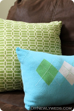 green-pillows