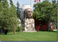 8471 Saskatchewan Trans-Canada Highway 1 Indian Head - Indian Head statue