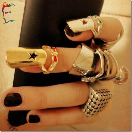 New-Nail-ring-with-Bow-Pentacle-gold-silver-color-4-style-star-shape-nail-ring-cool