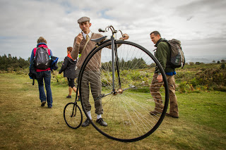 This guy sensibly chose not to ride his pennyfarthing up the hill