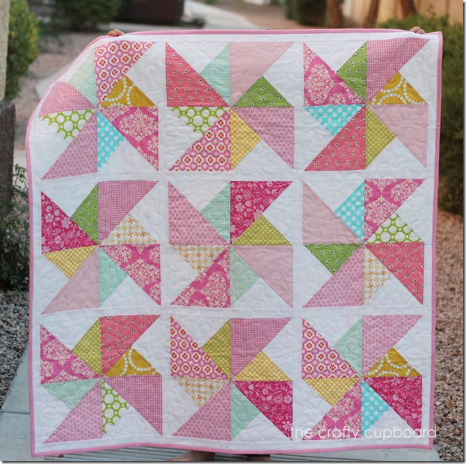 Pink Pinwheels by the Crafty Cupboard