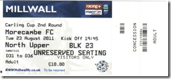 Millwall vs More ticket