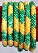 rollover bracelet yellow green